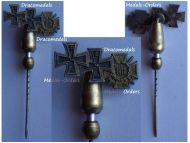 Germany WW1 Iron Cross 1st & 2nd Class EK1 EK2 Hindenburg Cross with Swords 1914 1918 Set Stickpin MINI