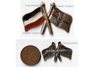 Germany WW1 Imperial Navy Flag Kaiserliche Marine cap badge brooch German Empire pin War WWI 1914 1918 Decoration