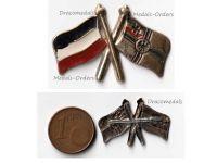 Germany WW1 Imperial Navy Flag Kaiserliche Marine cap badge brooch German Empire pin War WWI 1914 1918 Decoration