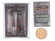 Germany WW1 Patriotic Cap Badge Bavaria Offering Day 1916 by Lindner
