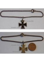 Germany WW1 Patriotic Pendant Iron Cross Bracelet 1914