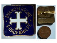 Germany WW1 Ladies Aid Evangelical Protestant Church badge German Great War 1914 1918 Weimar Republic