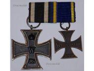 Germany WW1 Brunswick Ernst August EA2 Iron Cross EK2 Military Medals set German WWI 1914 1918 Great War