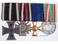 Germany WW1 Iron Cross KO Hungary Pro Deo Prussia Long Service Hindenburg Military Medals 1914 set