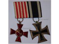 Germany WW1 Hanseatic Bremen Iron Cross EK2 Maker WILM set WWI 1914 1918 German Great War Award