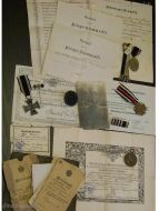 Germany WW1 Iron Cross NCO 9th Dragoon Regiment Hanover set Military medals 1914 1918 Diploma German