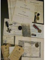 Germany WW1 Iron Cross NCO 9th Dragoon Regiment Hanover set Military medals 1914 1918 Diploma German