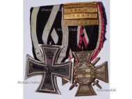 Germany Navy WW1 Iron EK2 Marine Naval Flanders Cross 4 bars Yser Ypres Somme Breakthrough WWI 1914 1918 Great War Medals set