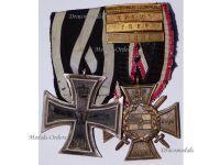 Germany Navy WW1 Iron EK2 Marine Naval Flanders Cross 4 bars Yser Ypres Somme Breakthrough WWI 1914 1918 Great War Medals set