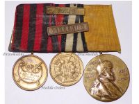 Germany Wurttemberg Military Medal 1866 Single Campaign Prussia Franco Prussian War 1870 Wilhelm Centenary 1897 Medals set