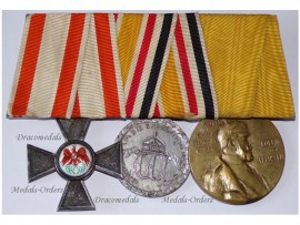 Germany Prussia Order Red Eagle Cross IV Cl. Maker JG&S China Boxer Revolt 1900 Steel Kaiser Wilhelm 1897 Centenary Military Medal set