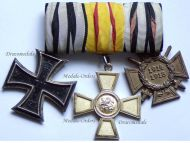 Germany Baden Cross Merit Order Zahringen Lion 1889 Iron EK2 Maker KO Hindenburg set WW1 1914 1918 Great War