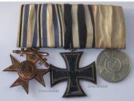Germany WW1 Bavaria Merenti Military Merit Iron Cross Service Medals set Bavarian WWI 1914 1918 Great War