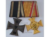 Germany WW1 Iron Military Lippe Detmold Cross War Merit Medals set WWI 1914 1918 Great War Decoration