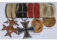 Germany WW1 Bavaria Merenti Military Merit Iron Cross Service XII  Luitpold 1905 Medals set Bavarian WWI 1914 1918