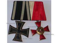 Germany WW1 Hanseatic Lubeck Iron Cross EK2 Maker KO set Great War WWI 1914 1918 German Military Medals