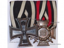 Germany WW1 Prussian Iron Cross EK2 Hindenburg Maker Erbe Military Medals set WWI 1914 1918 Great War Decoration