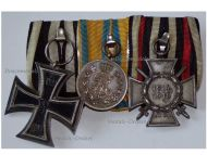 Germany Saxony WW1 Iron Cross Hindenburg Friedrich August Bronze Medal Merit set Military Medals German Decoration