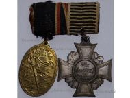 Germany WW1 Prussia Army Veterans Kyffhauser Military Medal Cross 2nd Class WWI German Decoration Great War 1914 1918 set