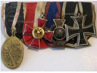 Germany WW1 Iron Hanseatic Lubeck Oldenburg Friedrich August Cross EK2 FA2 Military Medals set 1914 1918 Decoration