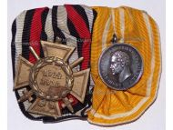 Germany Prussia Rescue from Danger Medal Merit Silver 3rd Type 1875 1907 Hindenburg Cross Set German WW1 1914 1918