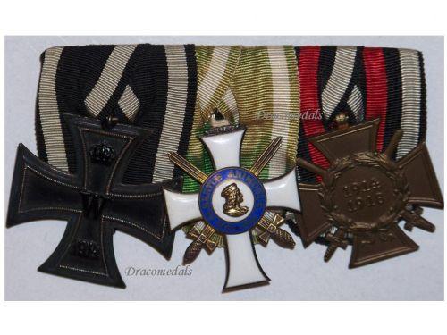 Germany Saxony WW1 Albert Albrecht Order Knight Iron Cross Hindenburg set Military Medals German Decoration