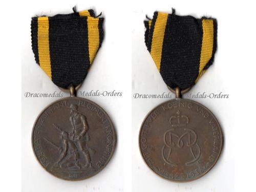 Germany 2nd Bavarian Infantry Regiment Crown Prince Jubilee Military Medal 1682 1932 German Decoration Bavaria