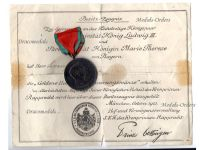 Germany Bavaria WW1 Golden Wedding Anniversary Medal 1918 Royal Couple King Ludwig Queen Maria Theresia Bavarian Decoration Diploma 1923