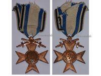 Germany WW1 Bavaria Cross Military Merit 3rd Class Swords Merenti 1866 Medal Bavarian Decoration Deschler