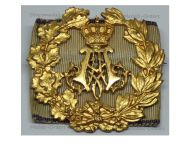 Germany WW1 Bavaria Prince Alfons Service Commemorative Gold Badge on Shooting Performance Ribbon by Heinloth Marked DRGM