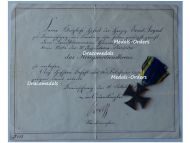 Germany WW1 Brunswick EA2 Ernst August's Cross of Military Merit 2nd Class with Diploma to the 79th Infantry Regiment von Voigts Rhetz