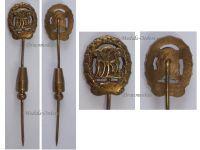 NAZI Germany WW2 Sports Badge DRL 1935 1945 Bronze Class Stickpin by Wernstein Jena MINI