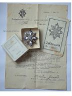 Germany WW1 Hamburg German Field Decoration Honor Badge Chest Star Veterans WWI 1914 1918 Great War Sergeant Diploma Boxed