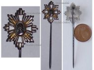 Germany WW1 Hamburg German Field Decoration Honor Badge Chest Star Stick Pin Veterans WWI 1914 1918 Great War Miniature