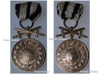 Germany Hohenzollern WWI Gold Merit Medal Golden Swords 3rd type 1842 Military German Decoration WW1 Great War 1914 1918