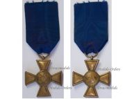 Germany Prussia Officer's Long Military Service Cross for XXV years 1825, 3rd Type 1845 1855