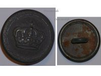 Germany WW1 German Prussian Army Uniform Button with the Imperial Crown Marked M0