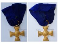 Germany Prussia Officer's Long Military Service Cross for XXV years 1825, 4th Type 1855 1875