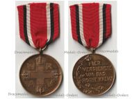 Germany WW1 Prussia Red Cross Service Medal 3rd Class in Bronze