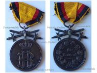 Germany WW1 Silver Medal of Merit with Swords of  the Princely Reuss Cross of Honor