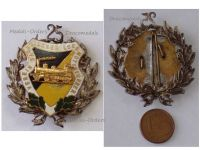 Germany WW1 Saxony State Railway Engine Driver Association Badge 25 Years Membership Medal Decoration German Railroad Train 1900