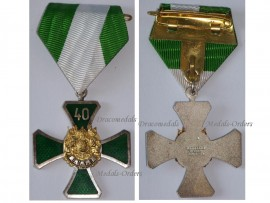 Germany Saxony WW1 Veterans Association Cross 2nd Class 40 years Military Medal German Decoration Great War WWI 1914 1918 by Glaser