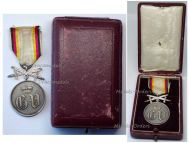 Germany WWI Waldeck Pyrmont Silver Military Medal Merit Swords German Great War Decoration WW1 1914 1918 Boxed