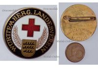 Germany Wurttemberg WW1 Red Cross Badge Land Forces Association Nurses Medics Doctors 1914 1918 German Decoration by Mayer & Wilhelm