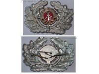 East Germany DDR People's Army Officer Cap Badge Visor German Communism Warsaw Pact Cold War