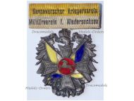 Germany WW1 Prussia Veterans Association Badge of Niedersachsen Hanover by Lauer