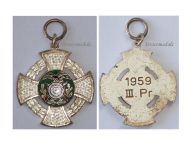 West Germany Regiment Shooting Patriotic Cross Military Medal 1959 German Cold War Regimental Decoration