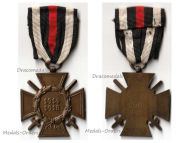 Germany WW1 Hindenburg Cross with Swords for Combatants Maker Erbe