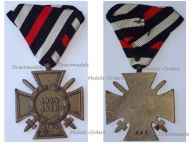 Germany WW1 Hindenburg Cross with Swords for Combatants Maker G&S on Austrian Ribbon