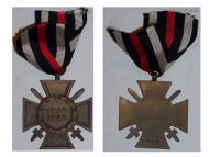 Germany WW1 Hindenburg Cross with Swords for Combatants Maker G&S
